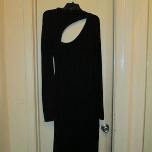 Wms. Sz. L Black Cutout Sweater Dress by Express